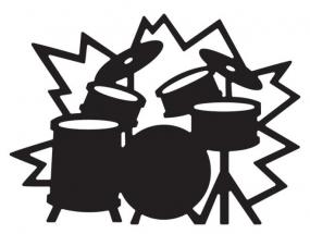 Die-Versions Stanzform Schlagzeug / Drum Set DVW-329