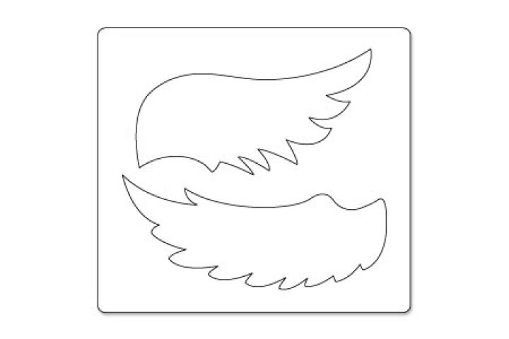 Как сделать крылья из бумаги для лебедя