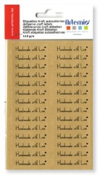 """Artemio Sticker braun """" Handmade with Love """" 11006869"""