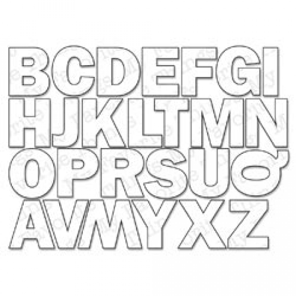 Die-namics Stanzform Alphabet Großbuchstaben/By The Letters 15486 ...