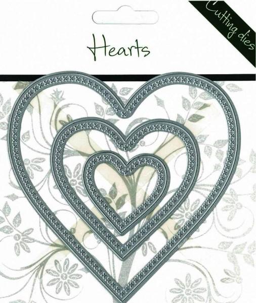 Romak Stanzform Herzen nestings mit Kreuzen / Hearts 817711