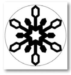 Martha Stewart Giant Icelandic snowflake 42-35024