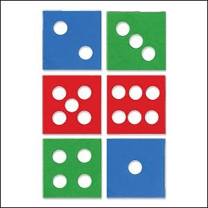 Allstar Dominosteine / domino dots A 10710