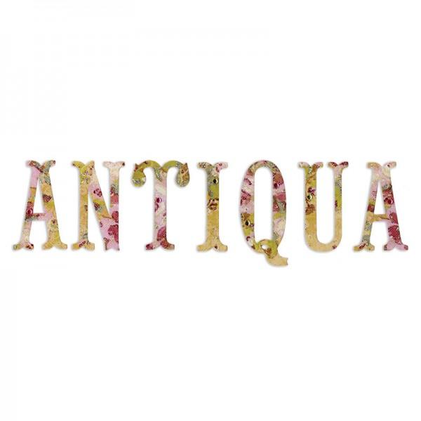 Sizzix Stanzform Sizzlits Alphabet Antiqua Capital Letters ( 12 medium Sizzlits ) 658337