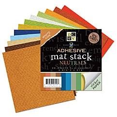 DCVW Papier mat stack NEUTRALS adhesive 9,8 cm x 9,8 cm MS-010-00005