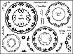 Stamping Scrapping Clear Stamps Lacey Circles 3031