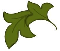Blatt floral / flourish leaves 0698