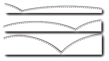 Poppystamps Stanzform Berge mit Nähnaht / Stitched Hills 1667