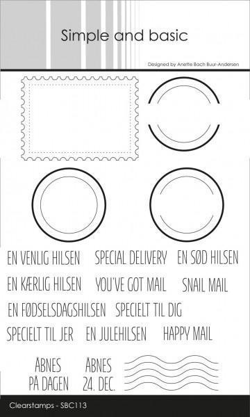 Simple and Basic Clearstempel Briefmarke u. Poststempel / DANSK TEKST SBC113