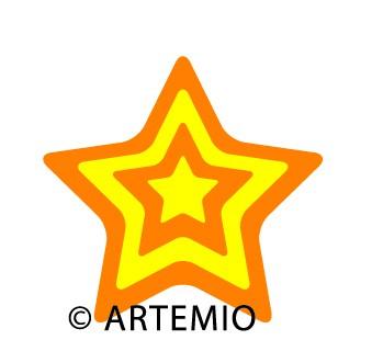 Artemio Happycut Stanzform 6,8 x 6,8 cm Stern # 5 / star # 5 18022007