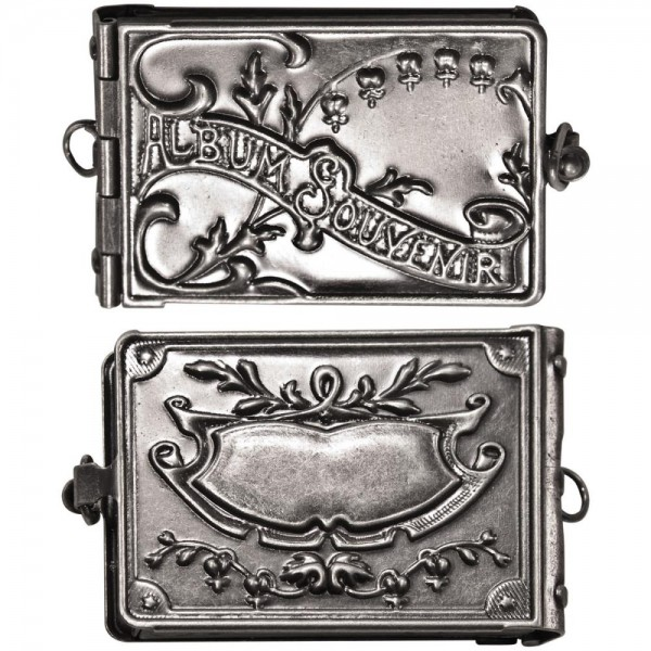 Tim Holtz Idea-Ology Locket Book / Metall-Schatulle TH93076
