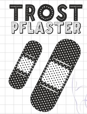 AEH Design Stempelgummi Mini Stempelset TROSTPFLASTER F1133