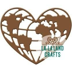 La-La Land Crafts Stanzform Herz-Weltkugel / World Heart 8343