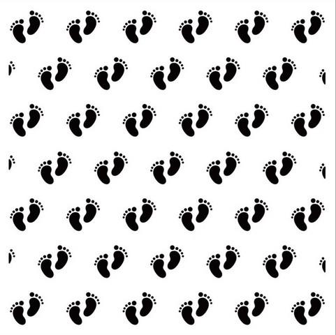 Nellie´s Choice Prägefolder quadratisch Baby / Baby-Füßchen 15 x 15 cm EEB003