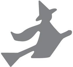 Fiskars Squeeze Punch L Hexe auf Besen / witch craft 5683