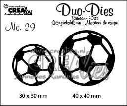Crealies Duo Dies Fußball / Fußbälle Nr. 29 CLDD29