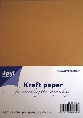 Joycrafts Kraftpapier A 4 300 gr. 8089/0203 ( 25 Blatt )