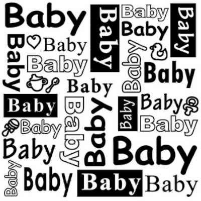 Nellies Choice Prägefolder Baby DCTXT004