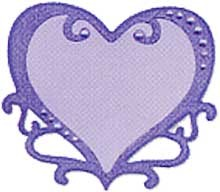 Sizzix Stanzform Originals LARGE Herz Rahmen / heart ornate 655460