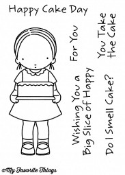 My Favorite Things Clear Stempel Mädchen mit Torte / Happy Cake Day PI-265
