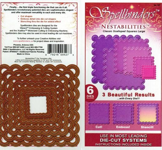 Spellbinders Stanzform Classic Quadrate gewellt groß/classic scalloped square lg S4-127