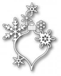 Poppystamps Stanzform Weihnachtskugel länglich mit Schneeflocken / Lavinia Snowflake Ornament 1619
