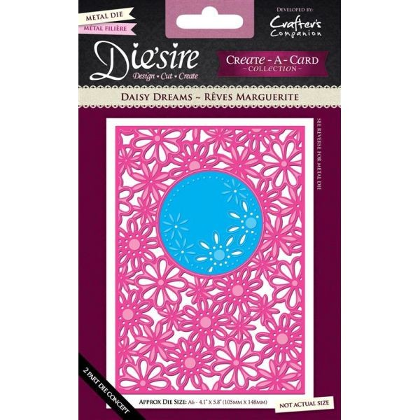 Crafter' s Companion Die'sire Stanzform CREATE-A-CARD A 6 DAISY DREAMS DS-CAD6-DDRE