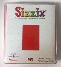 Sizzix Stanzform Originals LARGE Rechteck # 2 / rectangle # 2 38-0811