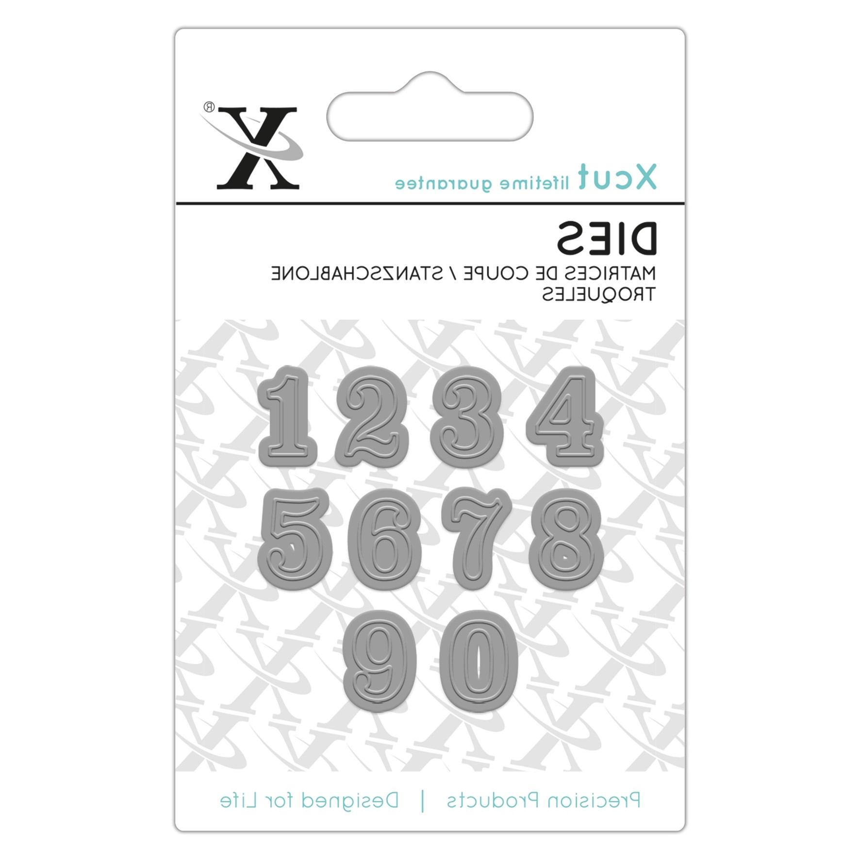 XCut Stanzform Mini Zahlen Serif Serif Numbers XCU
