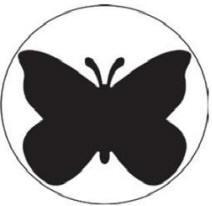 EK Success Slim-Motivstanzer large Schmetterling / butterfly 54-30074