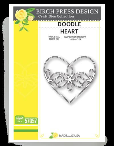 Birch Press Design Stanzform Doodle Herz / Doodle Heart 57057