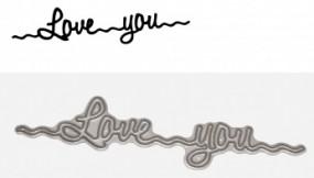 Kulricke Stanzform ' Love you ' C-D194