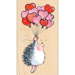 Penny Black Holzstempel Igel & Herz-Luftballons /Flight Love 422