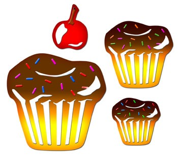 Spellbinders Stanzform Muffins / cupcakes S4-156