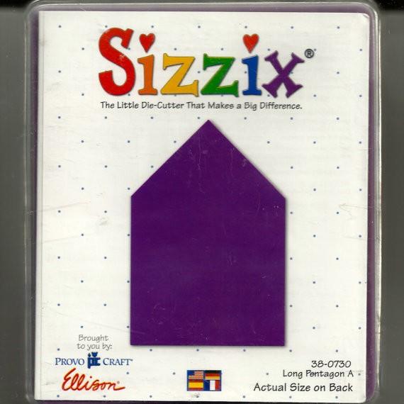 Sizzix Stanzform Originals LARGE Long pentagon A 38-0730