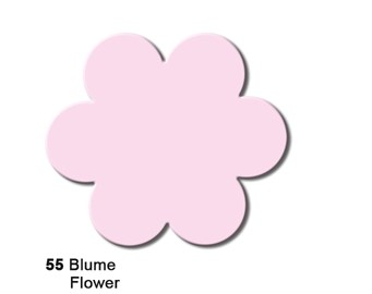 URSUS Motivstanzer Jumbo Blume ( rosa ) 1946 0055
