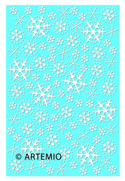 Artemio Happycut Metall-Prägeschablone 10 x 15 cm Eiskristalle 18040005