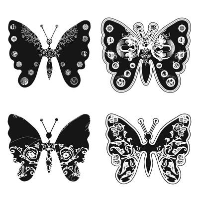 Spellbinders Stempelplatte Schmetterlinge RS-002
