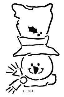 Schneemann mit hohem Hut / snowman with tall hat L 1081