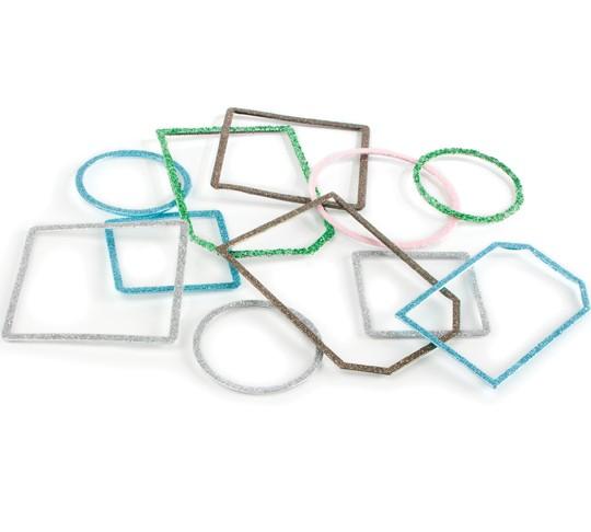 Slice Tag Maker Rahmen silber Glitter 32486