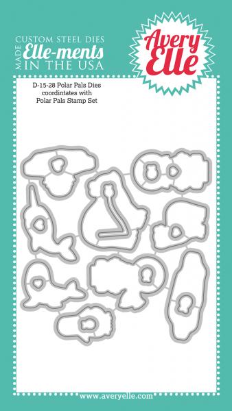 Avery Elle Stanzform Eisbär / Polar Pals D-15-28