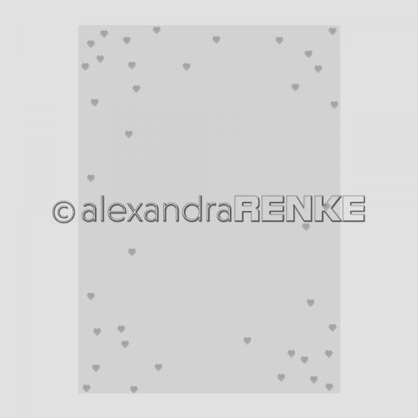 Alexandra Renke Prägefolder / Embossingfolder 10,7 x 15 cm Herzregen KbEF-AR-Hz0003