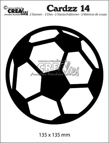 Crealies Stanzform Fußball / Soccer Ball CLCZ14