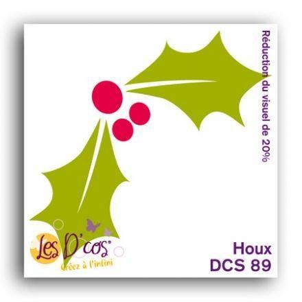 Toga Stanzform Weihnachtsstern-Blätter / Houx DCS89