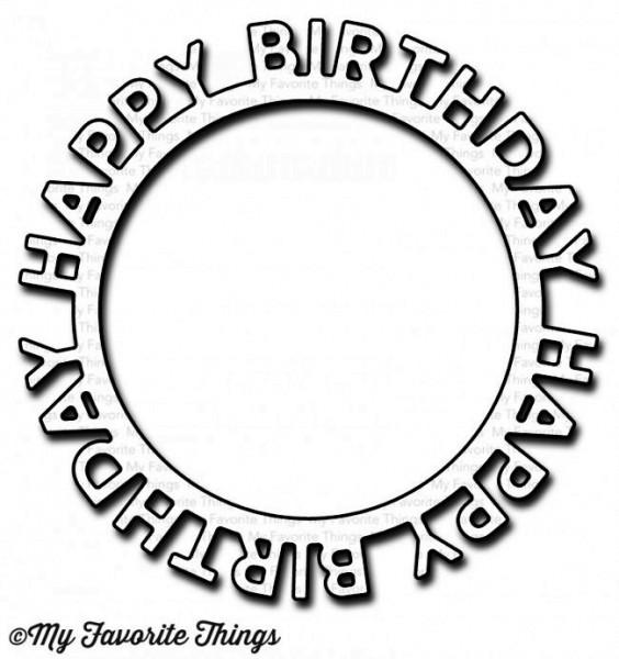 Dienamics Stanzform Happy Birthday Kreisform / Happy Birthday Circle Frame MFT-1146