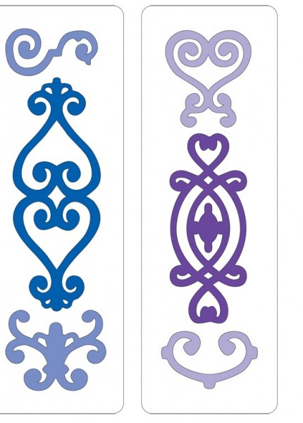 Cuttlebug Stanzform Border 2-er Ornamente / ornamental pieces 37-1509