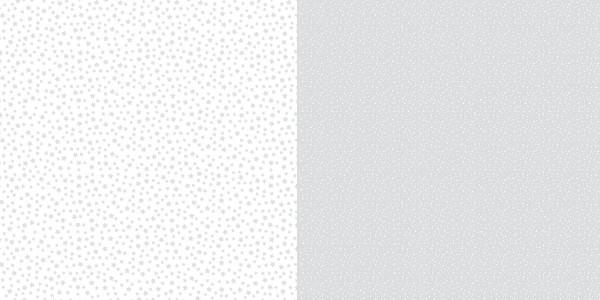 Dini Design Scrapbook-Papier Punkte / Blumen Silbergrau ( hell-grau ) 2007