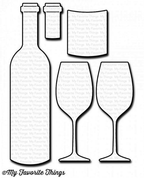 Dienamics Stanzform Weinflasche u. Weingläser / Wine Service MFT-1046