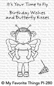 My Favorite Things Clearstempel Schmetterlings-Mädchen / butterfly Kisses PI-280