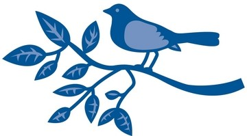 Marianne D Creatables Bird large with branch LR0138